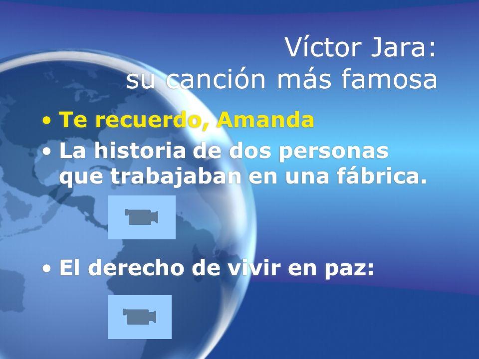 Víctor Jara: su canción más famosa