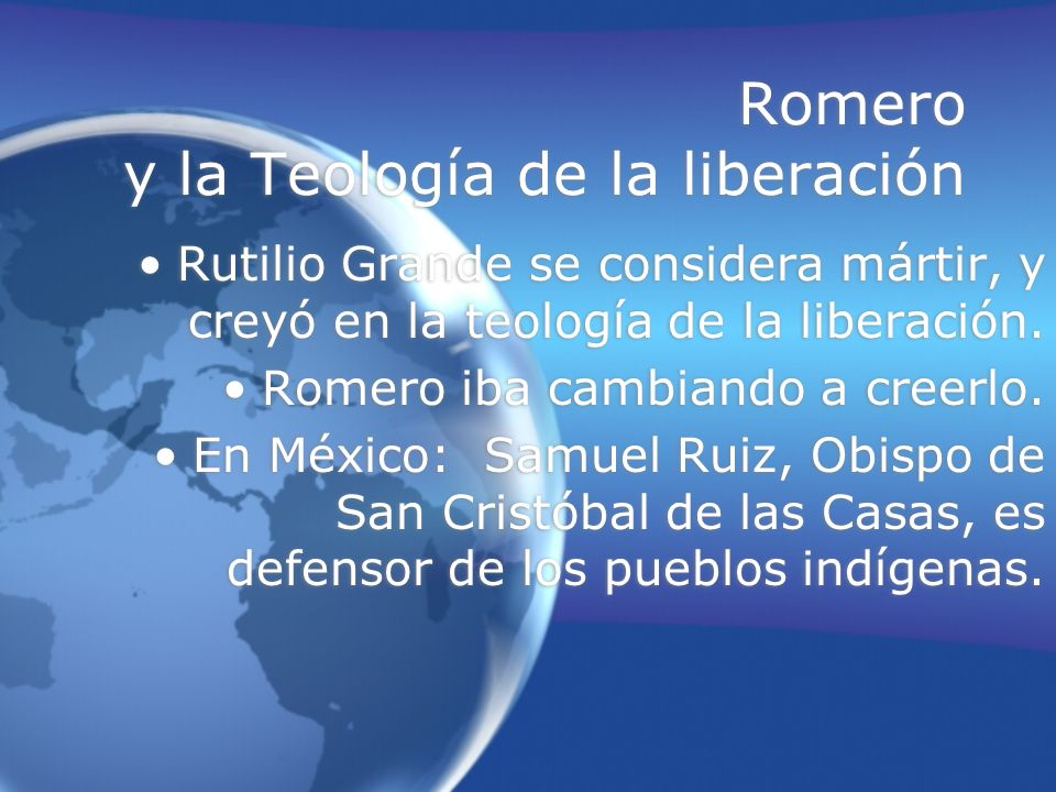 Romero y la Teología de la liberación
