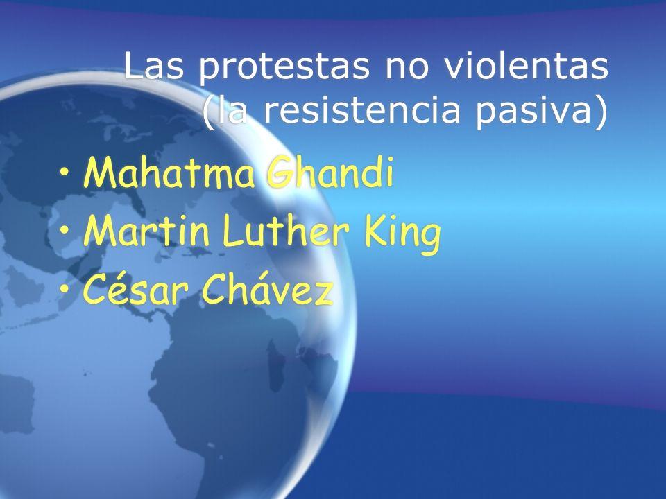 Las protestas no violentas (la resistencia pasiva)