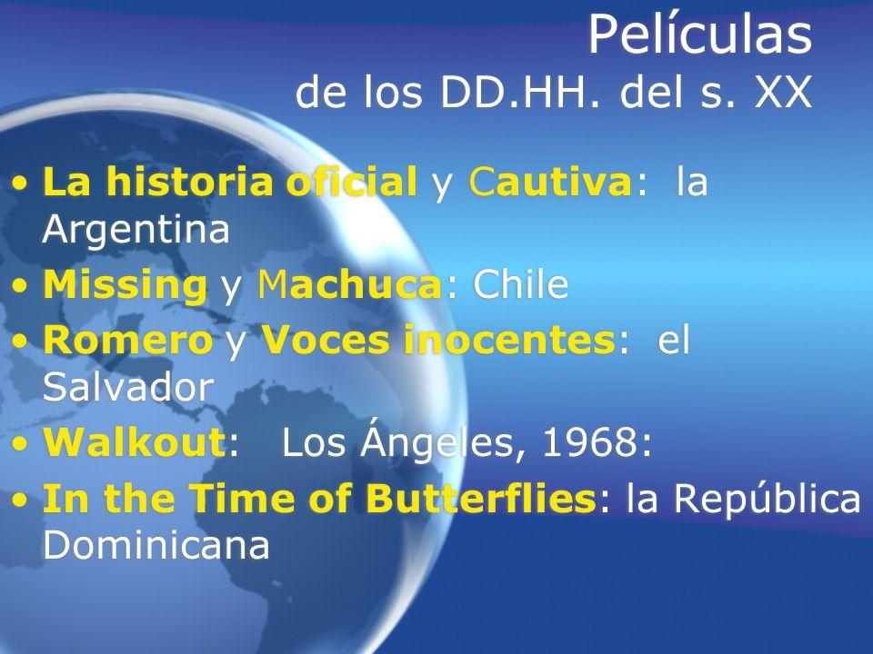 Películas de los DD.HH. del s. XX