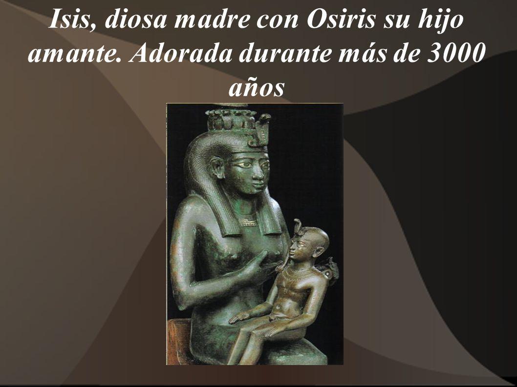 Isis, diosa madre con Osiris su hijo amante