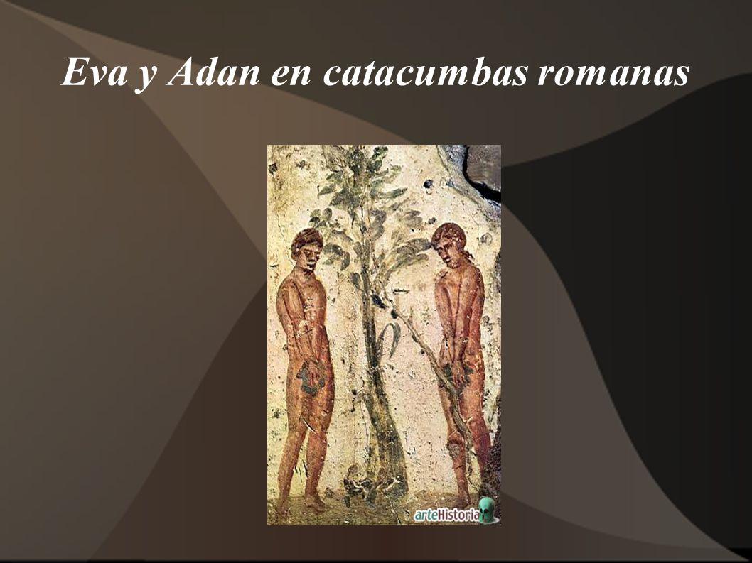 Eva y Adan en catacumbas romanas