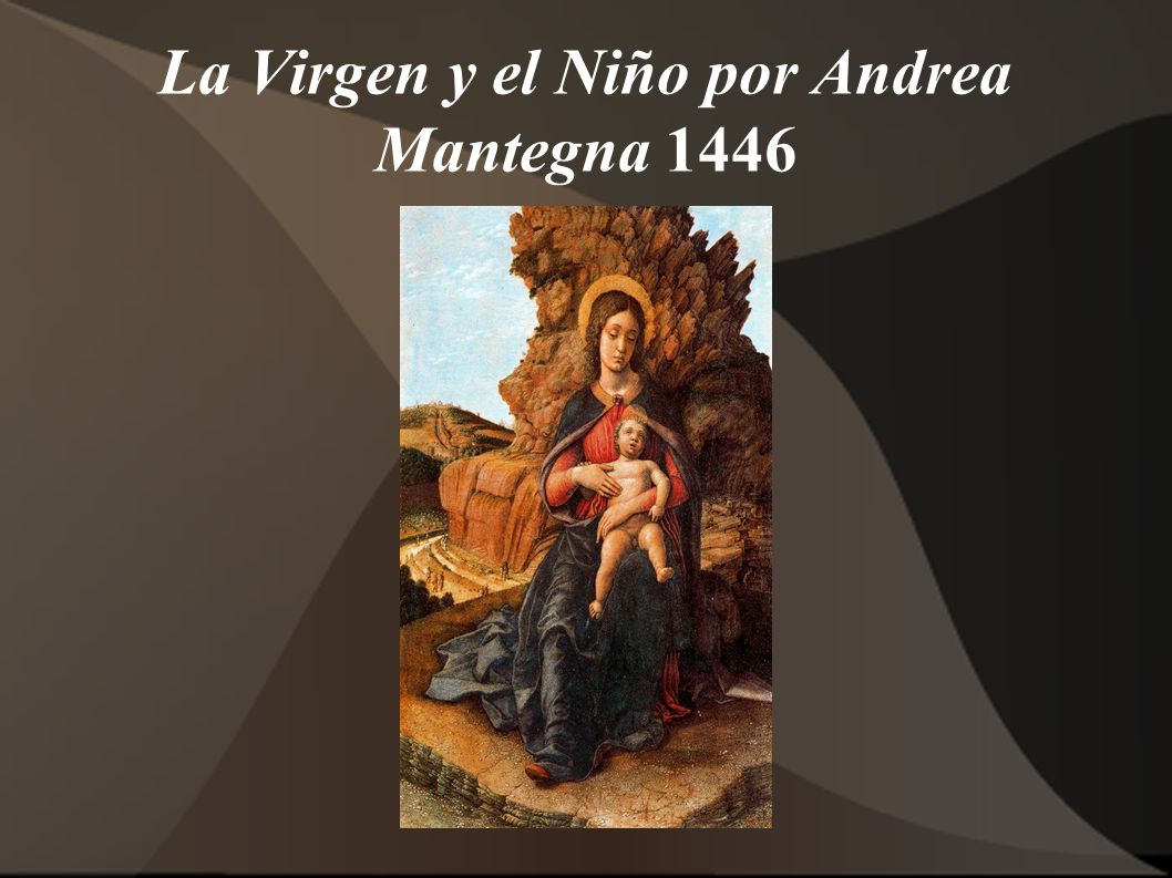 La Virgen y el Niño por Andrea Mantegna 1446