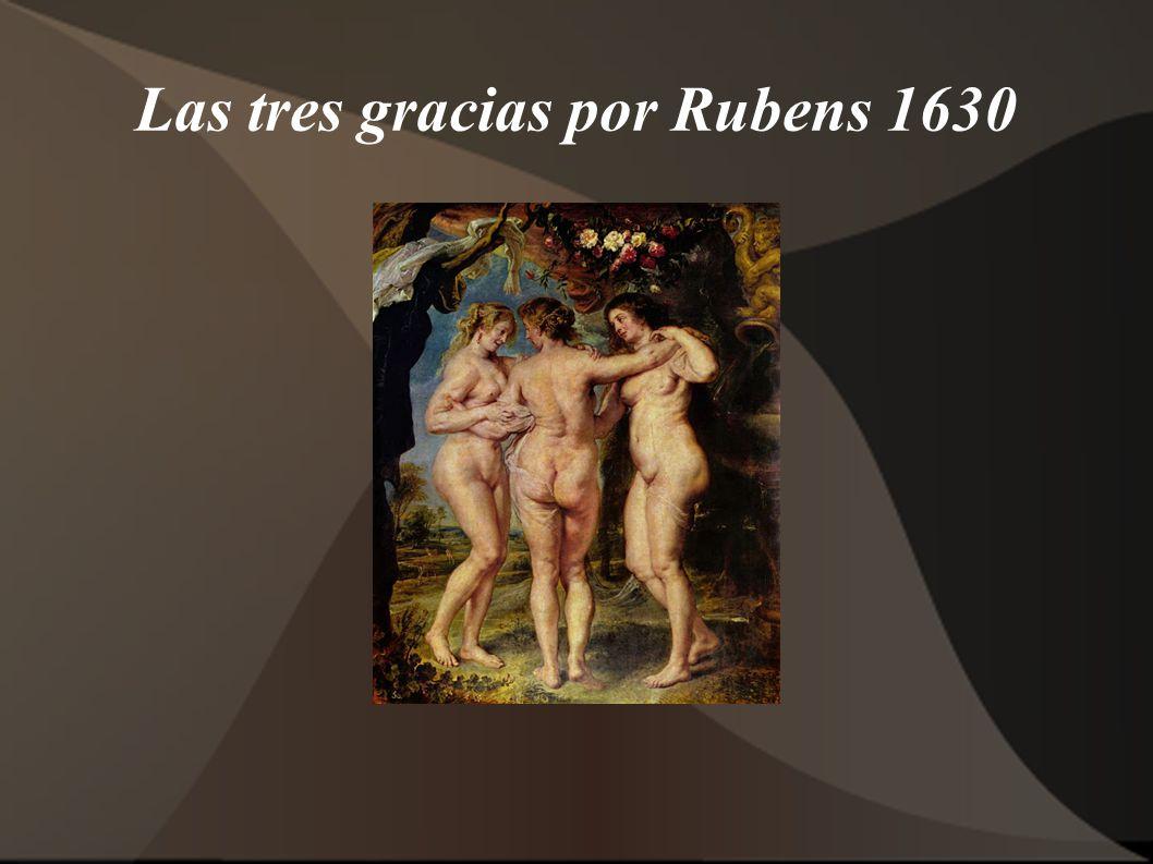 Las tres gracias por Rubens 1630