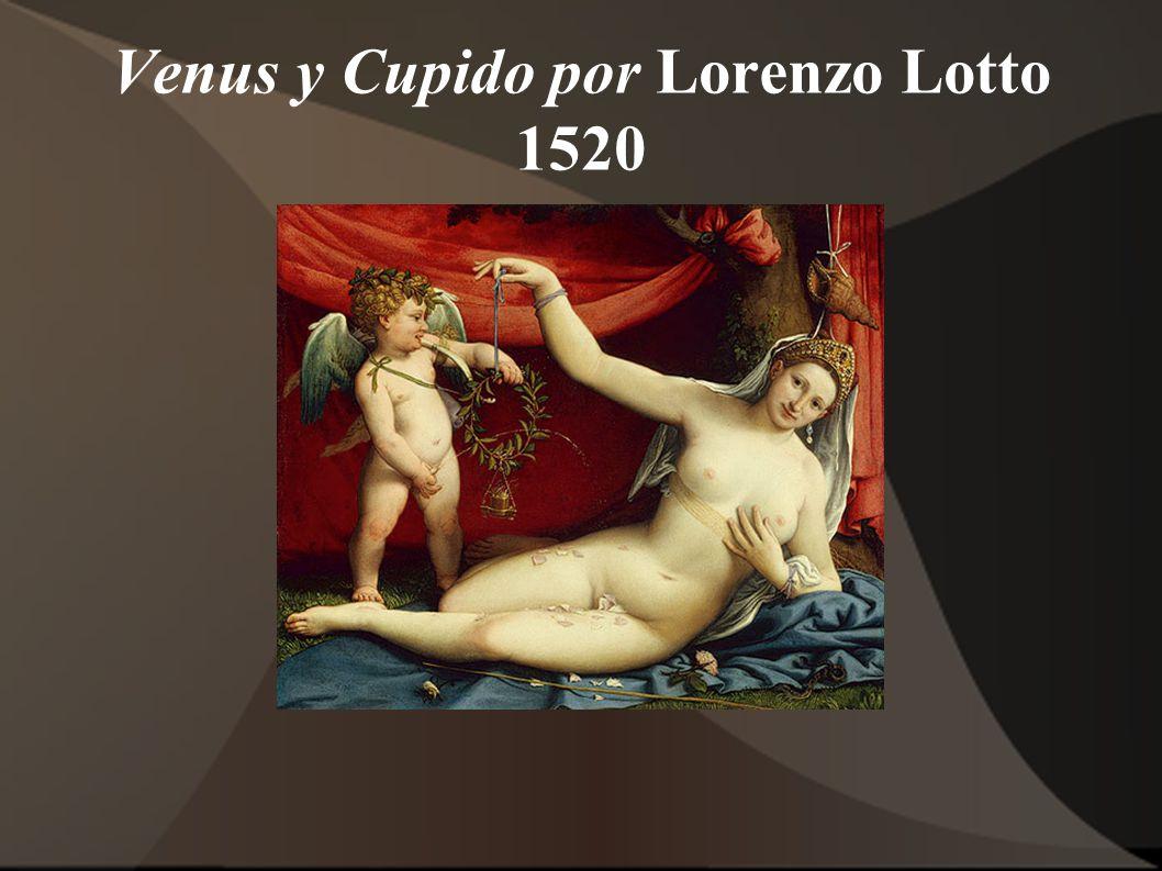 Venus y Cupido por Lorenzo Lotto 1520
