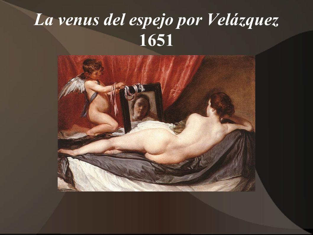 La venus del espejo por Velázquez 1651