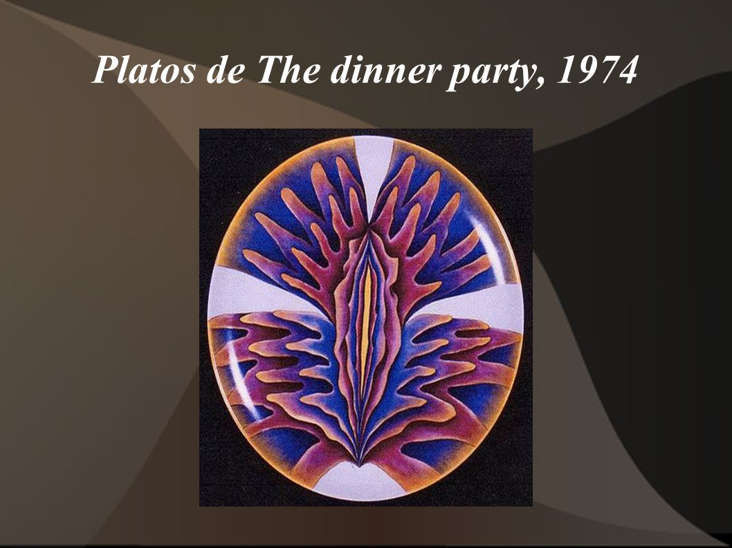 Platos de The dinner party, 1974