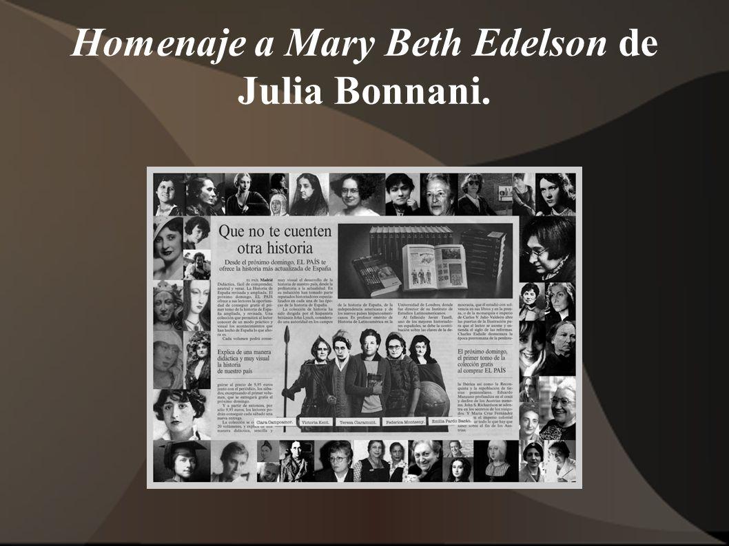 Homenaje a Mary Beth Edelson de Julia Bonnani.