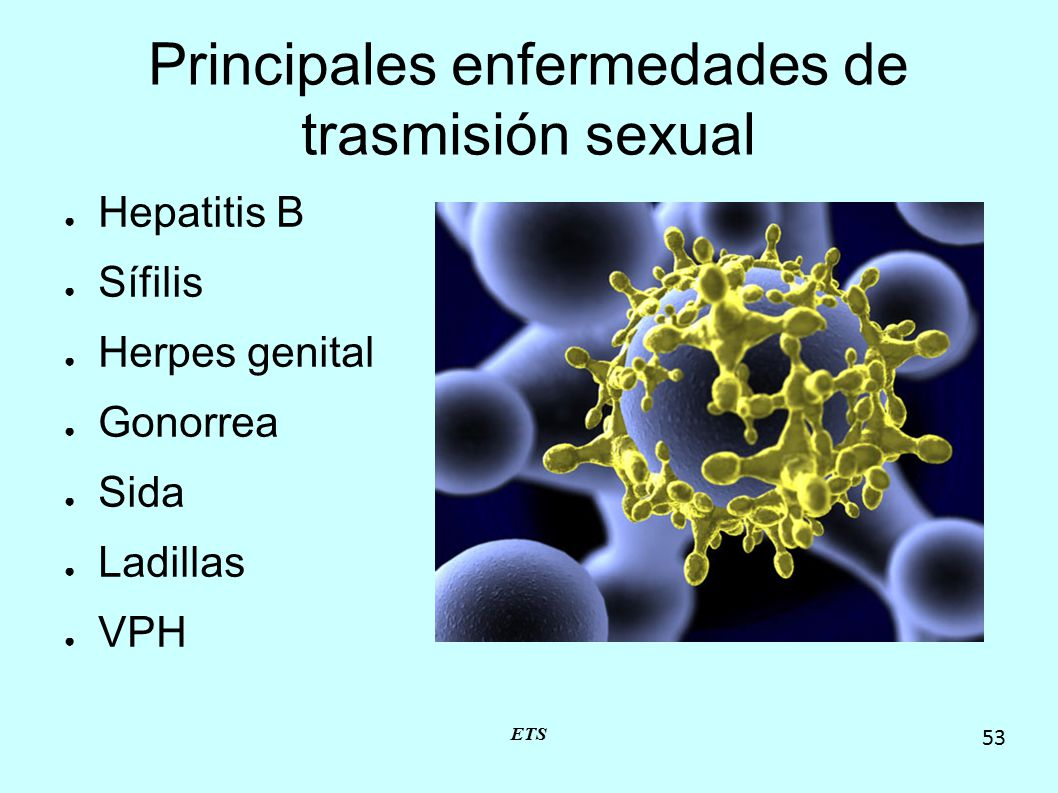 Principales enfermedades de trasmisión sexual