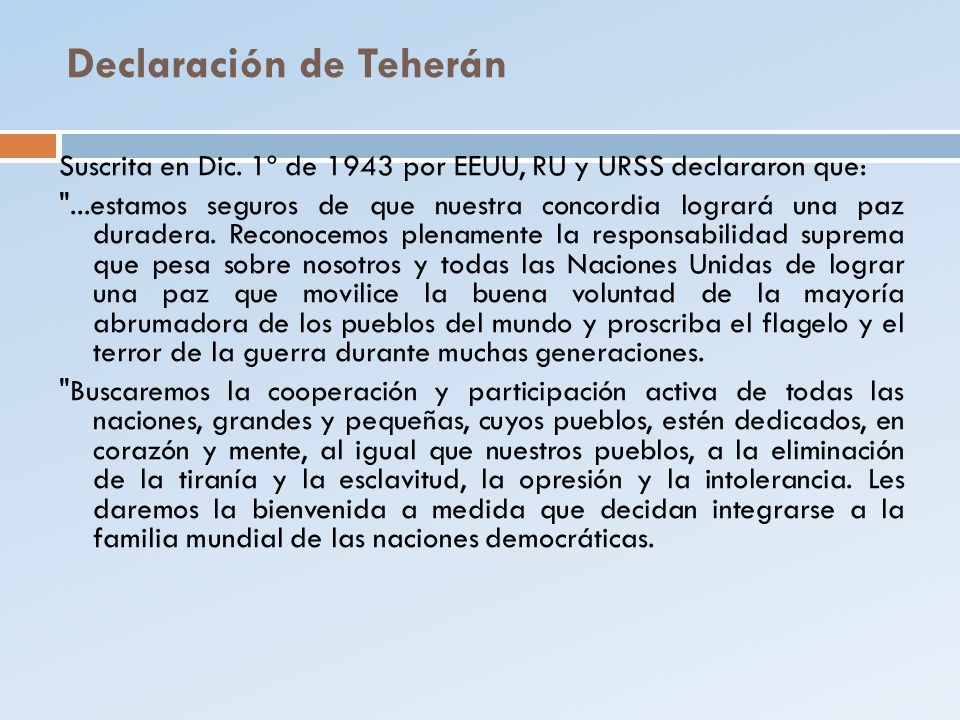 Declaración de Teherán