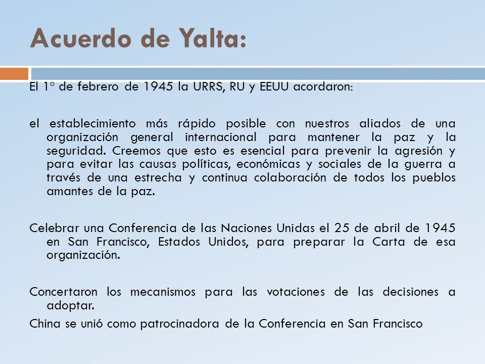 Acuerdo de Yalta: