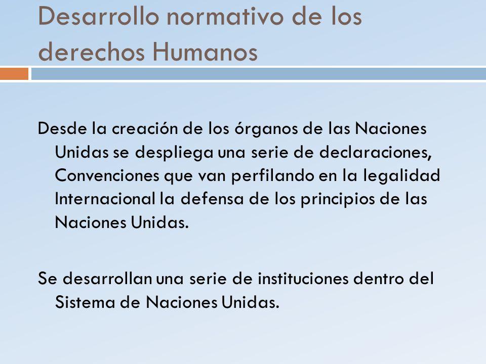 Desarrollo normativo de los derechos Humanos