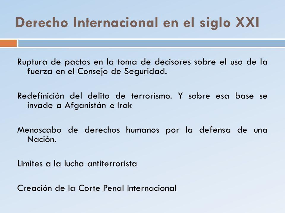 Derecho Internacional en el siglo XXI