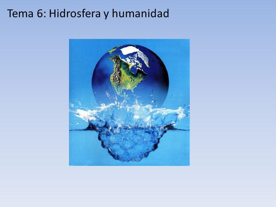 Tema 6: Hidrosfera y humanidad