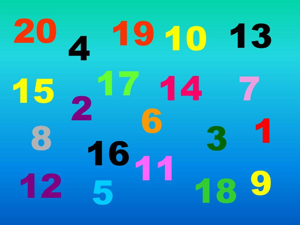 20 19 13 10 4 17 14 7 15 2 6 1 8 3 16 11 9 12 5 18