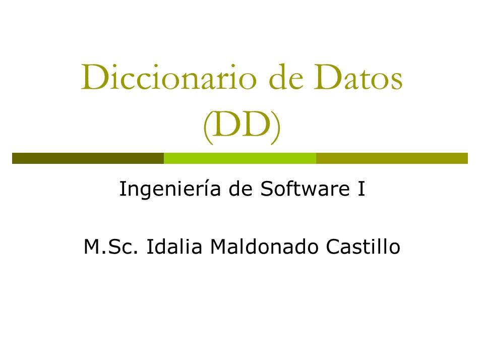 Diccionario de Datos (DD)