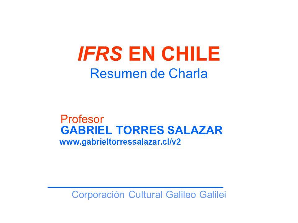 IFRS EN CHILE Resumen de Charla