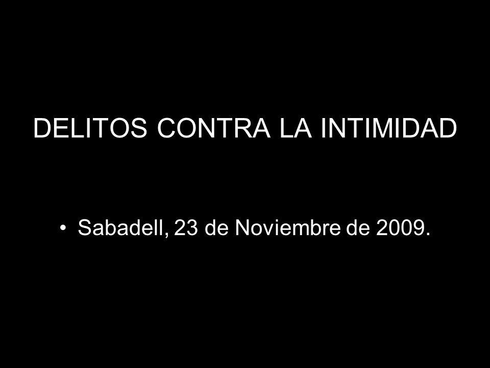 DELITOS CONTRA LA INTIMIDAD