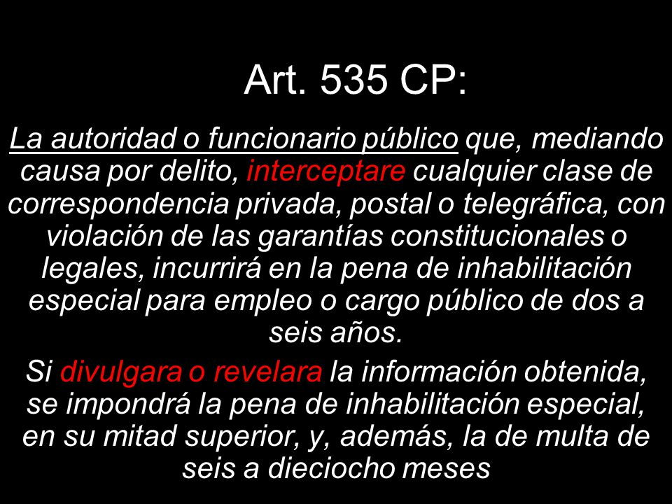 Art. 535 CP: