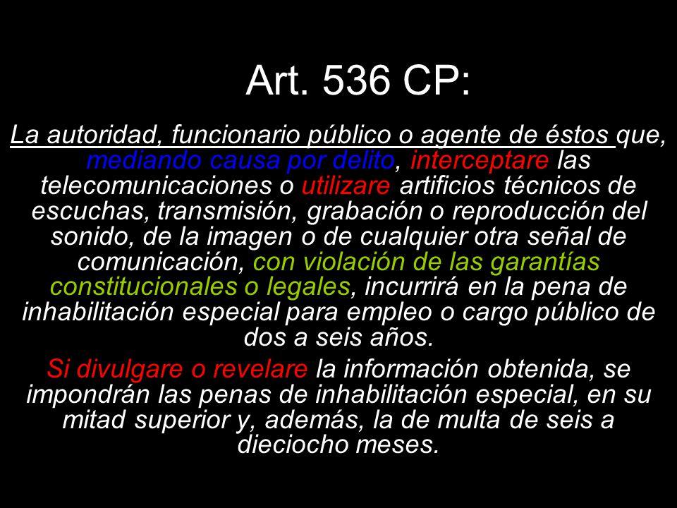 Art. 536 CP: