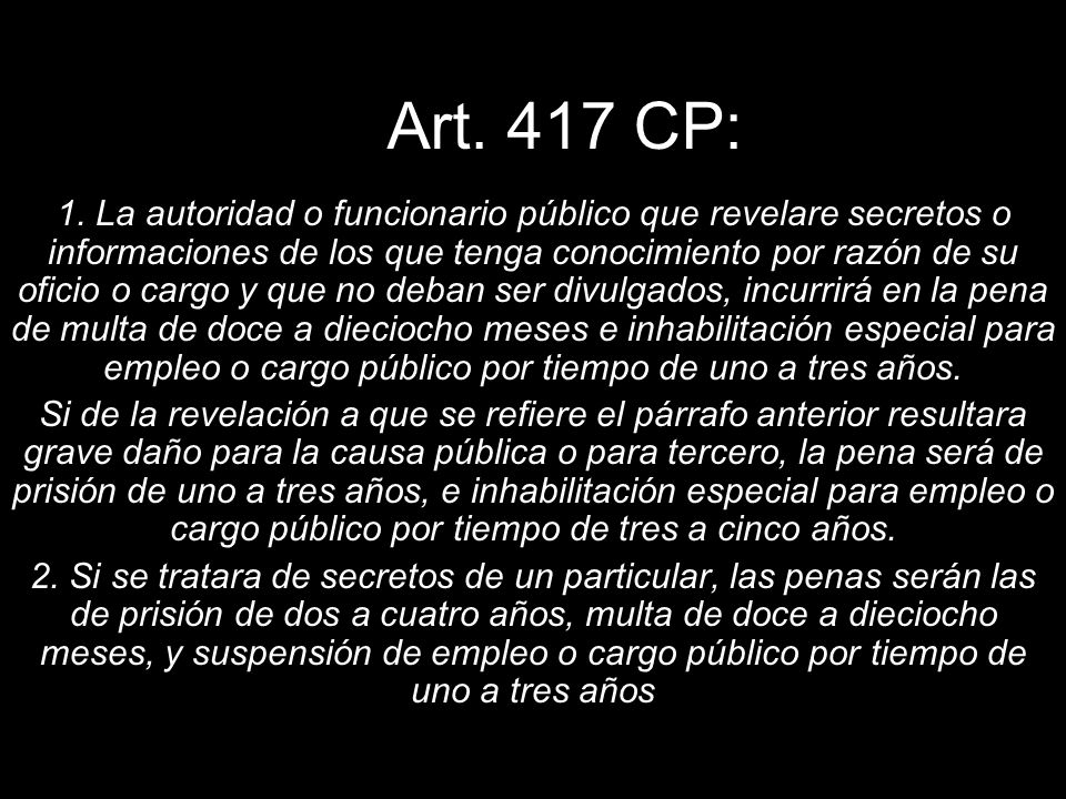 Art. 417 CP: