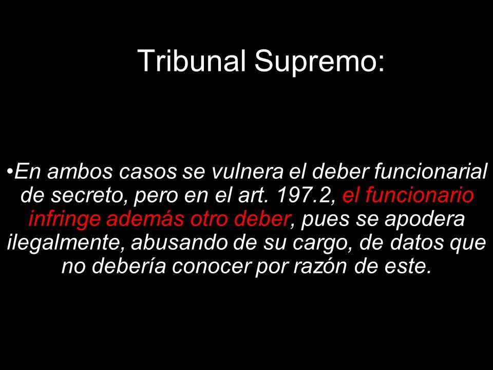 Tribunal Supremo: