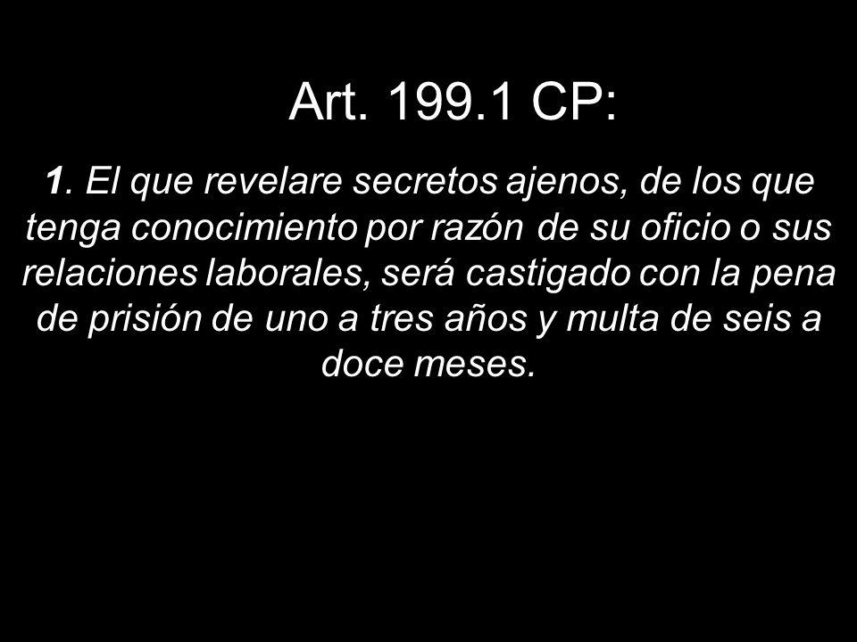 Art. 199.1 CP: