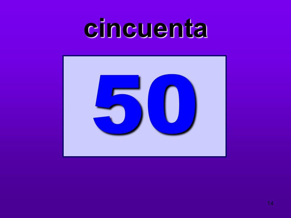 cincuenta 50 14