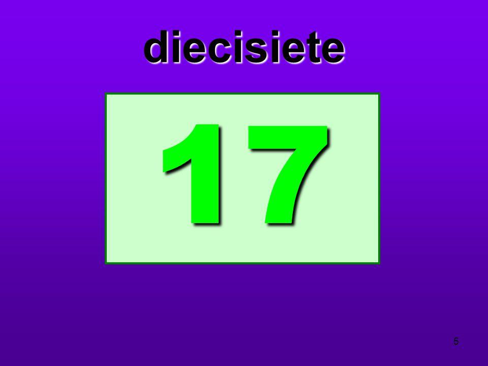 diecisiete 17 5