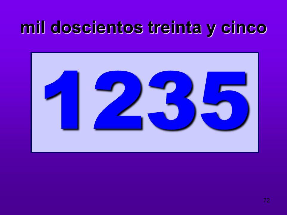 mil doscientos treinta y cinco