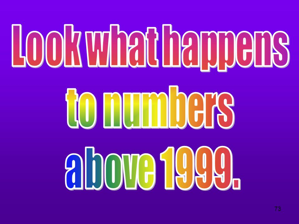 Look what happens to numbers above 1999.