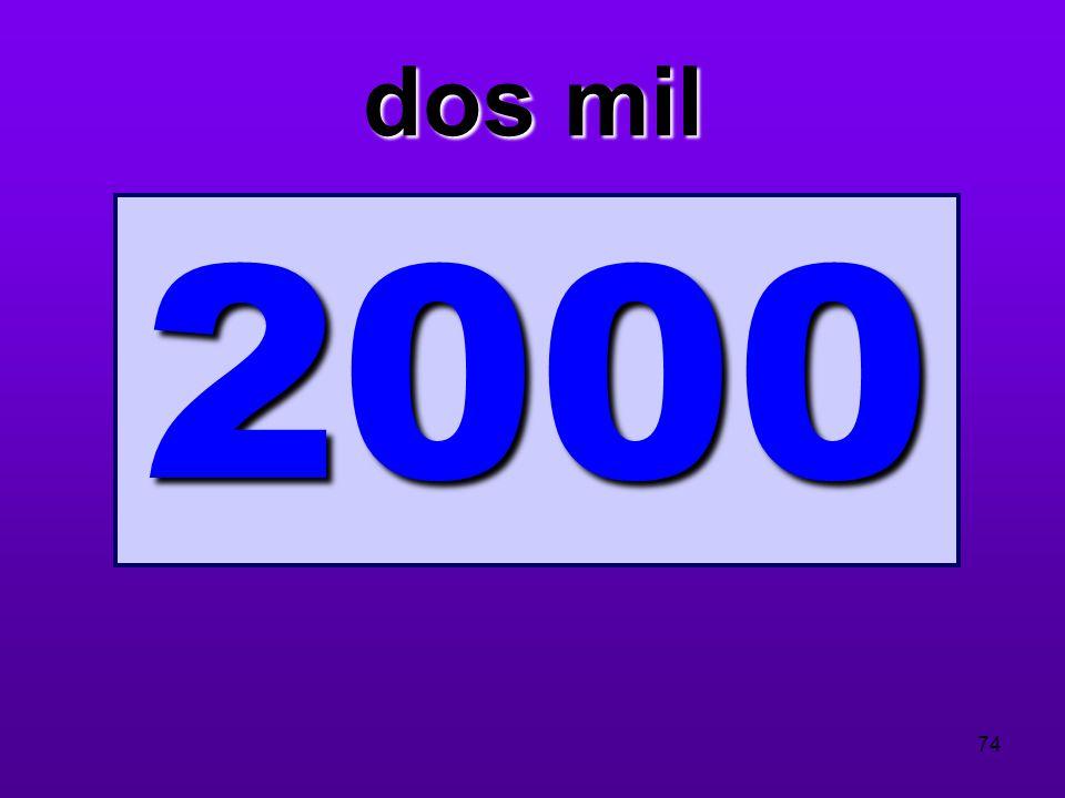 dos mil 2000
