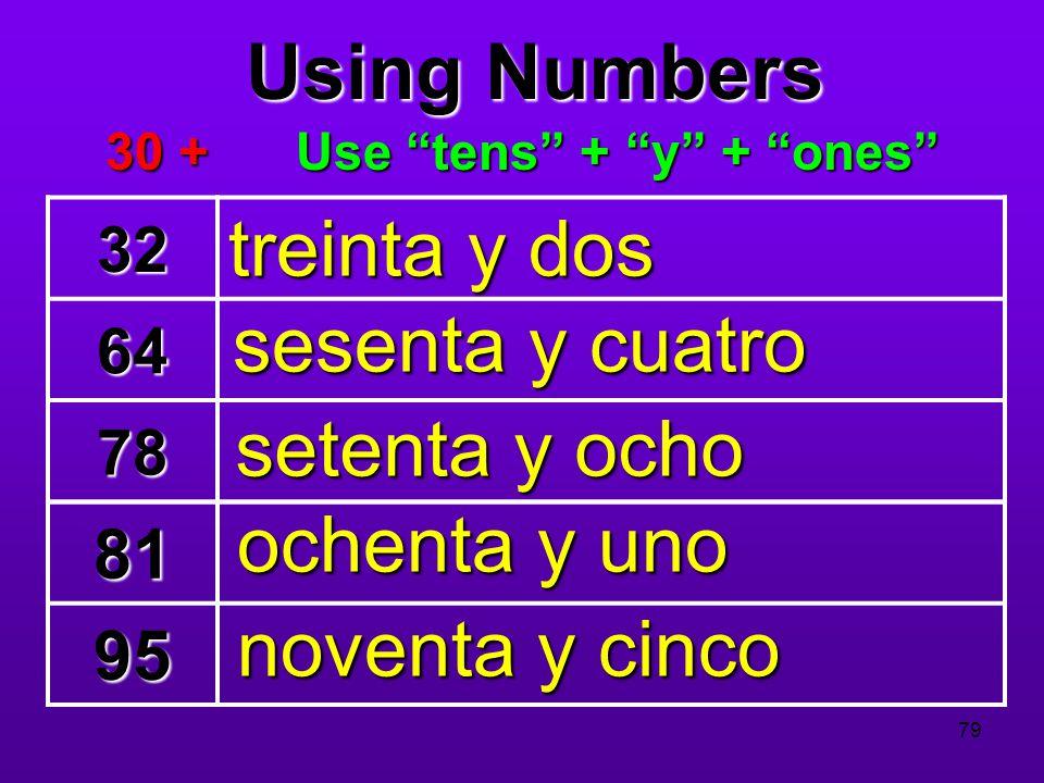 Use tens + y + ones