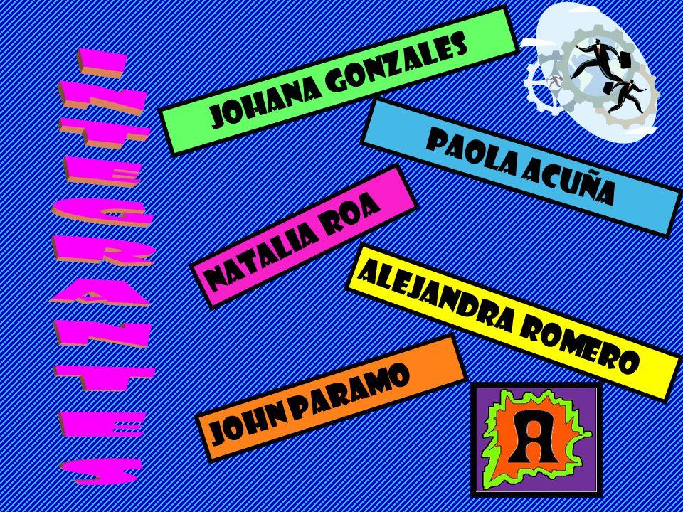 INTEGRANTES JOHANA GONZALES PAOLA ACUÑA NATALIA ROA ALEJANDRA ROMERO