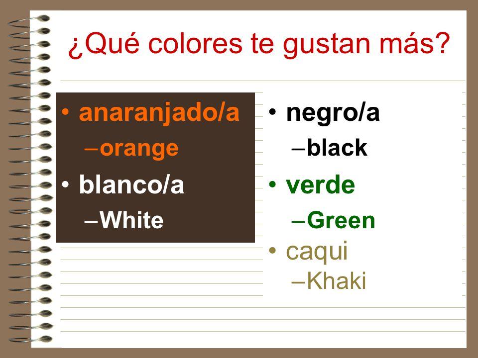 ¿Qué colores te gustan más