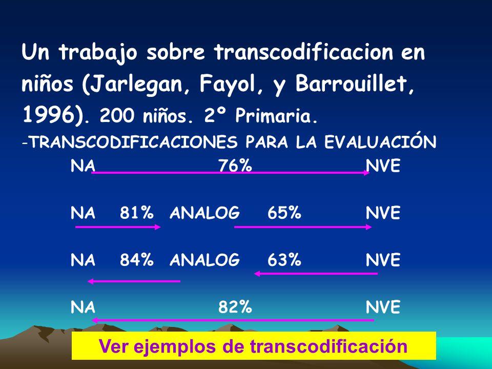 Ver ejemplos de transcodificación