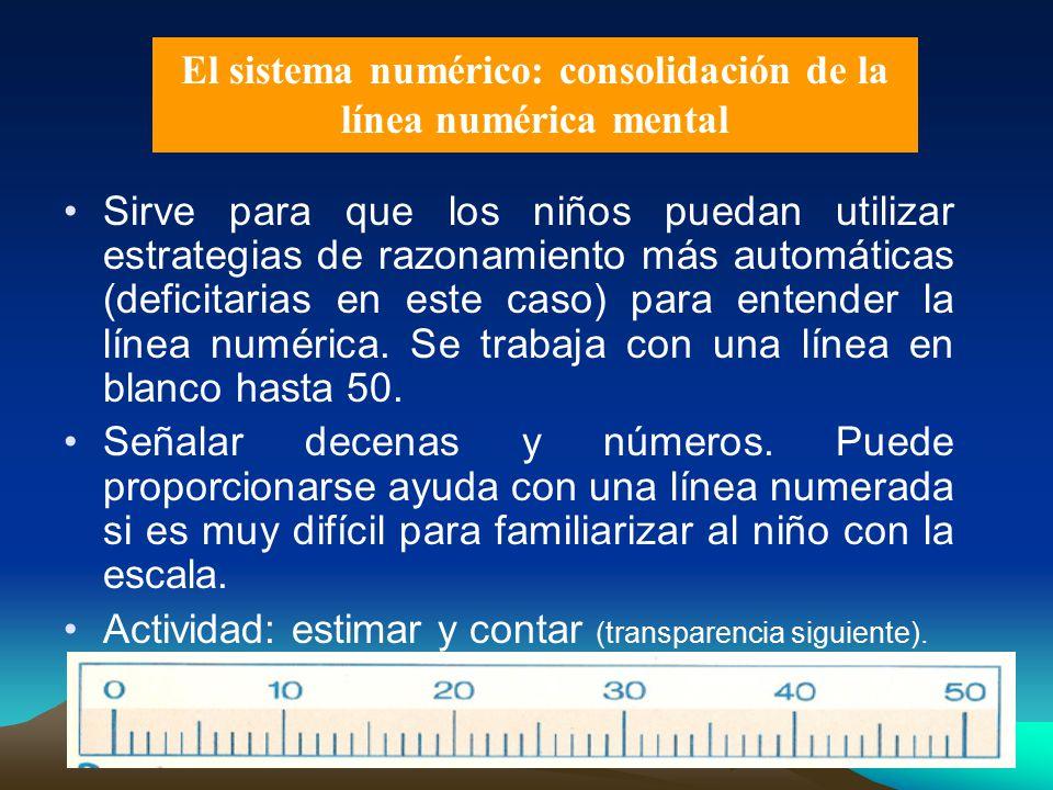 El sistema numérico: consolidación de la línea numérica mental