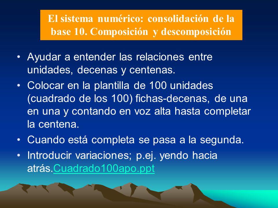 El sistema numérico: consolidación de la base 10