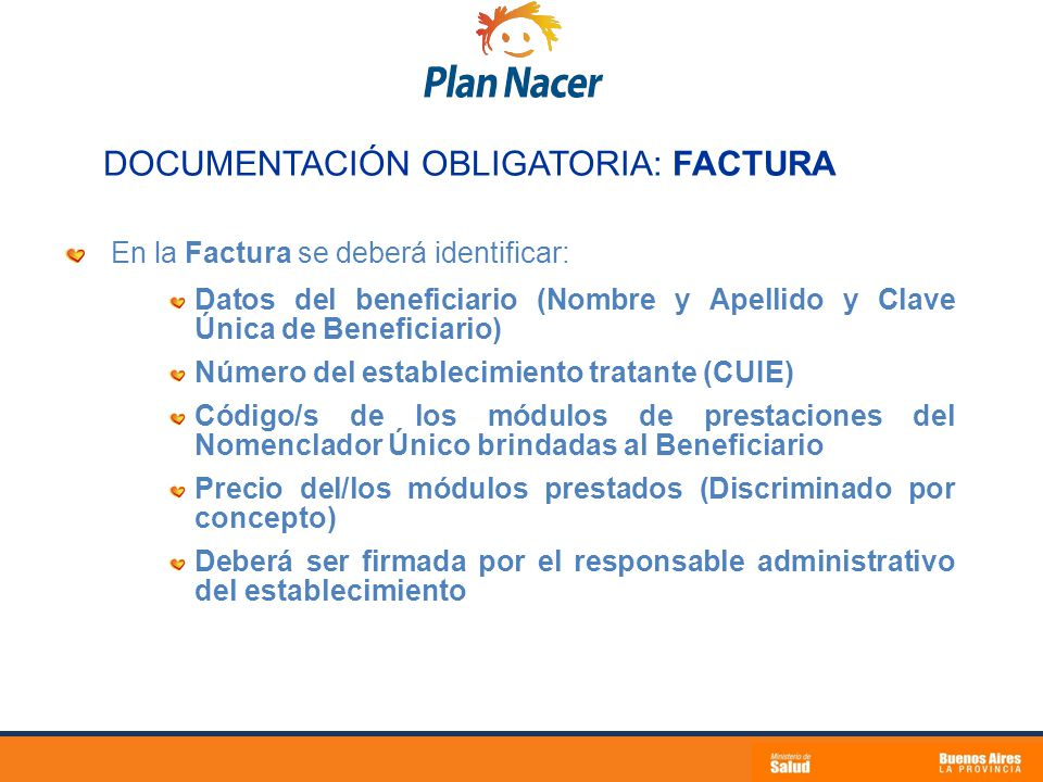 DOCUMENTACIÓN OBLIGATORIA: FACTURA