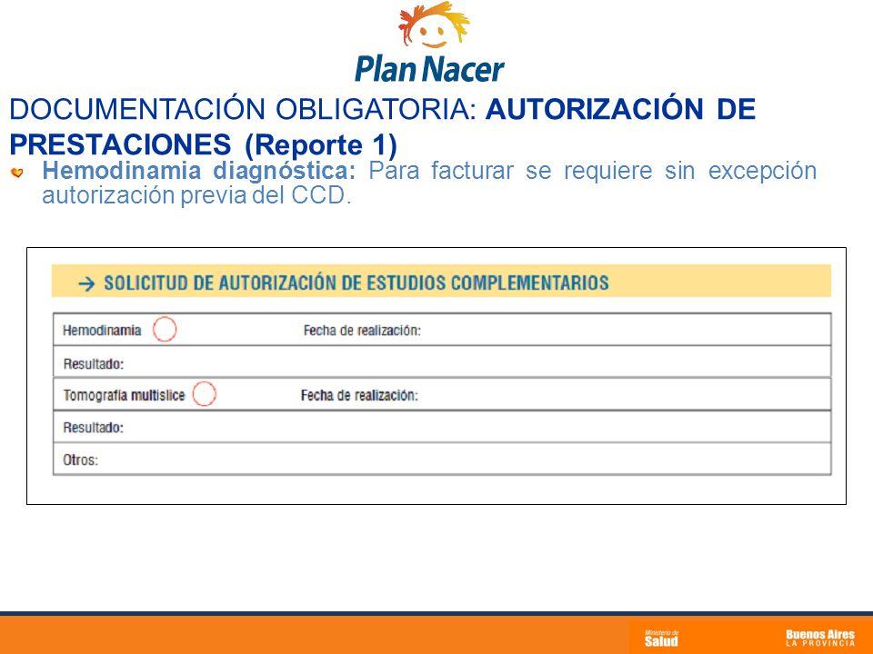 DOCUMENTACIÓN OBLIGATORIA: AUTORIZACIÓN DE PRESTACIONES (Reporte 1)