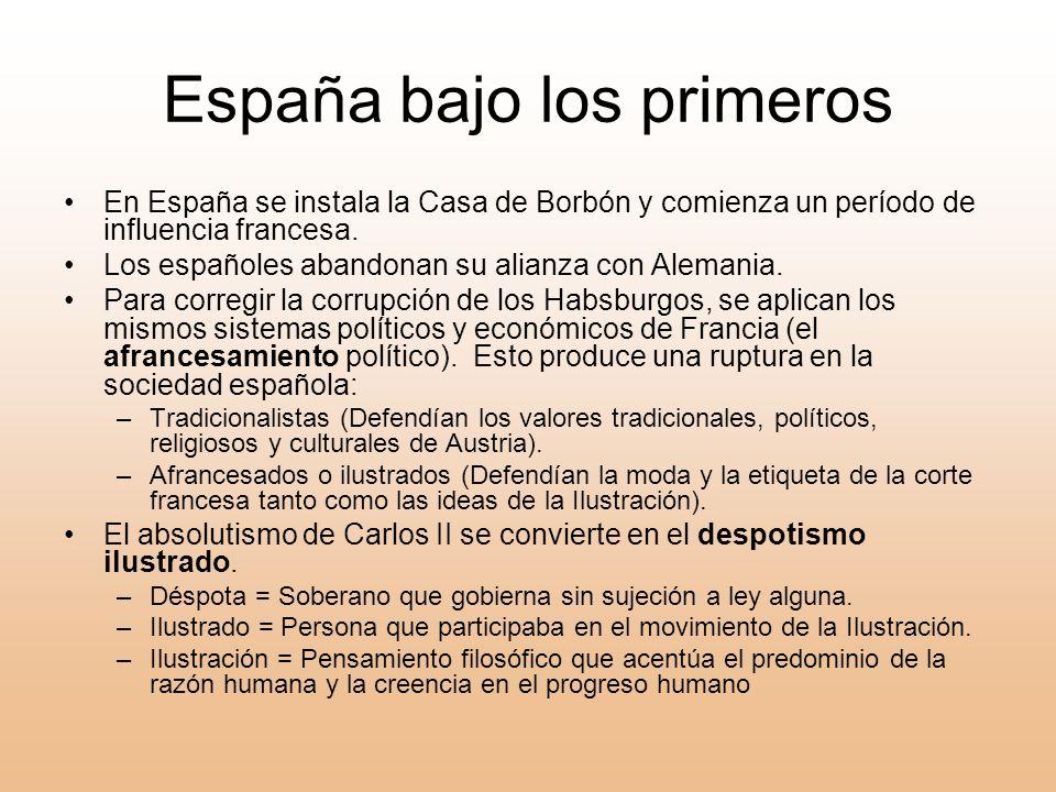 España bajo los primeros