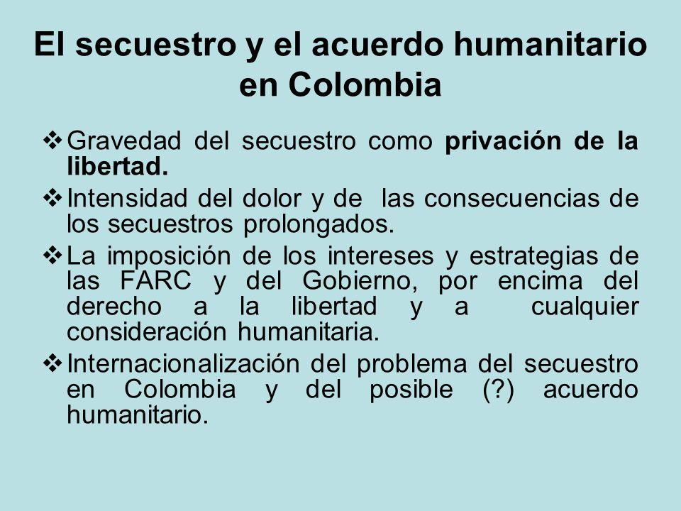 El secuestro y el acuerdo humanitario en Colombia
