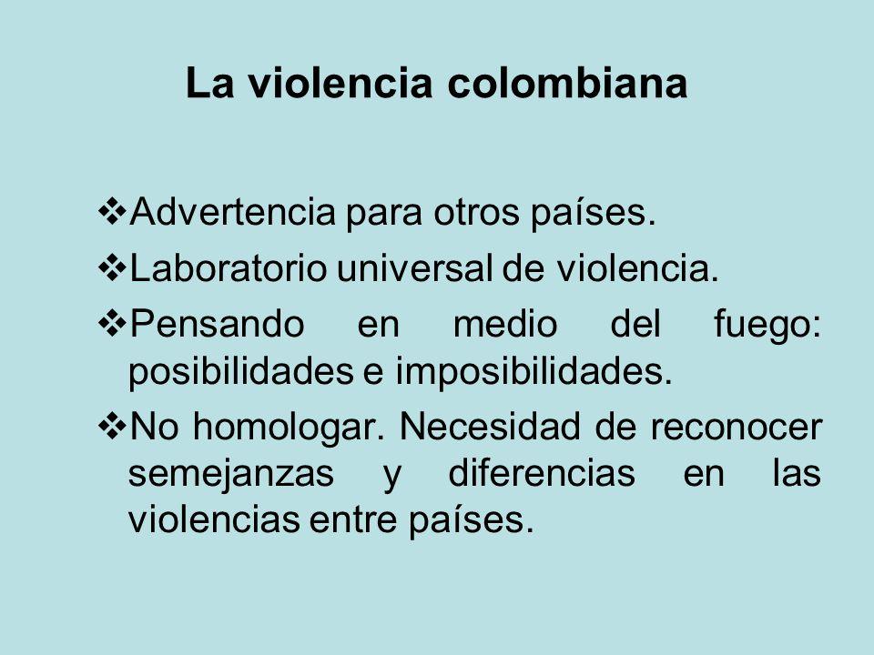 La violencia colombiana