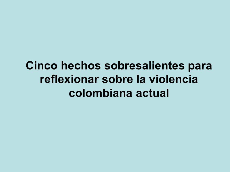 Cinco hechos sobresalientes para reflexionar sobre la violencia colombiana actual