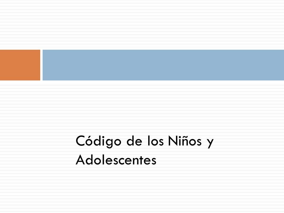 Código de los Niños y Adolescentes
