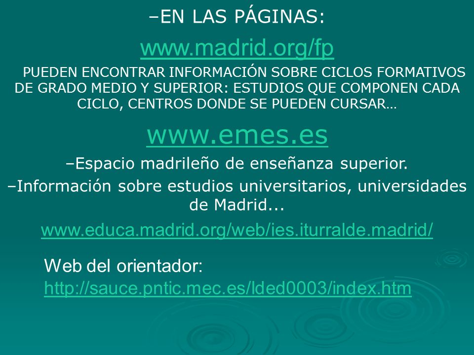 www.emes.es www.madrid.org/fp EN LAS PÁGINAS: