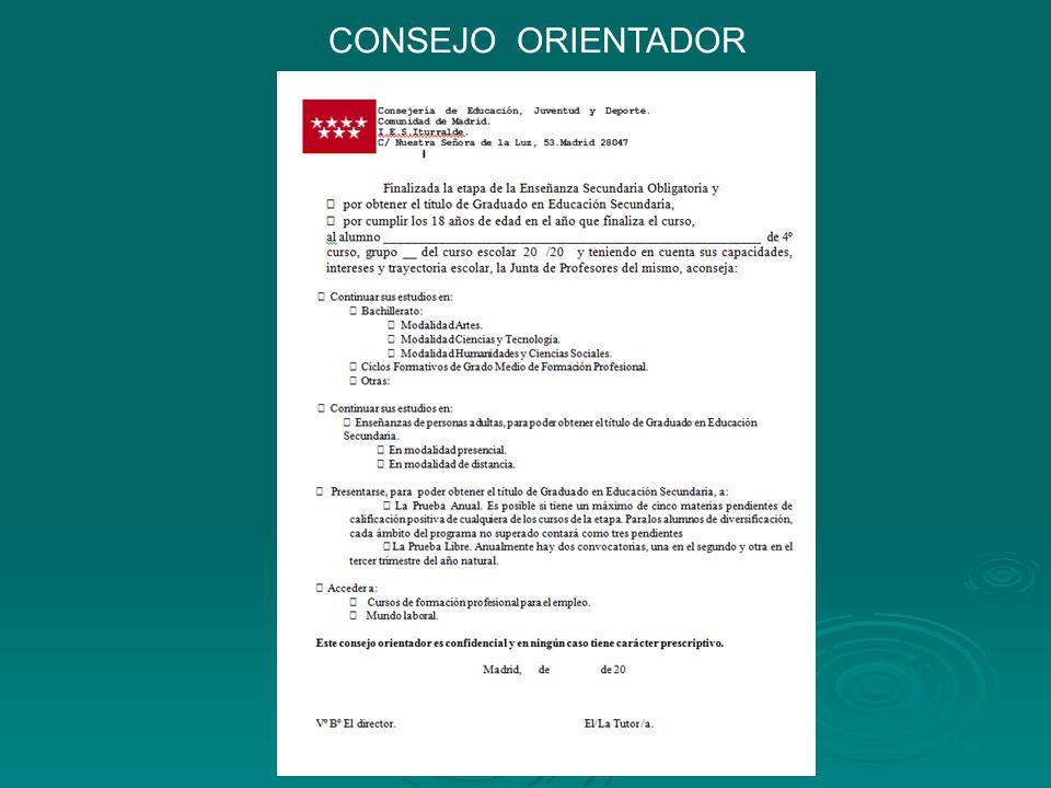 CONSEJO ORIENTADOR