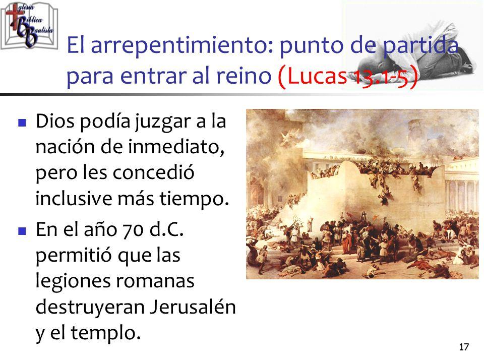 El arrepentimiento: punto de partida para entrar al reino (Lucas 13