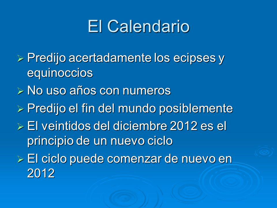 El Calendario Predijo acertadamente los ecipses y equinoccios