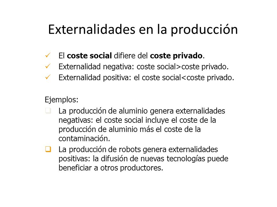 Externalidades en la producción